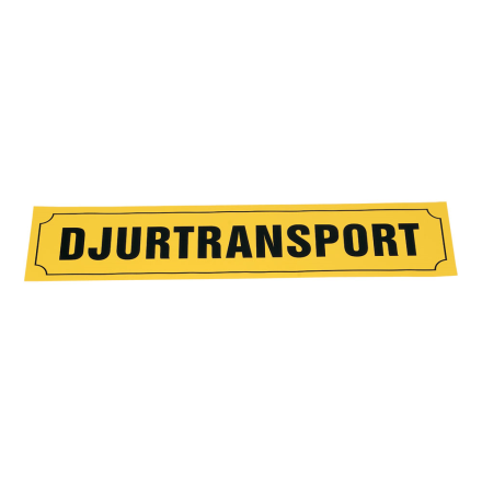 Djurtransportskylt