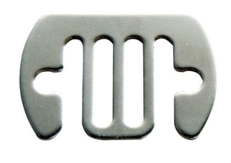 Skarvbleck rostfri 12-20 mm