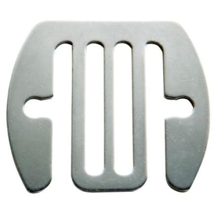 Skarvbleck rostfri 40 mm
